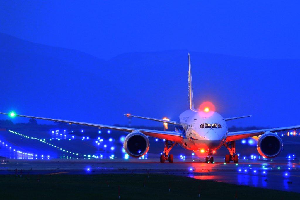 離陸直前の旅客機