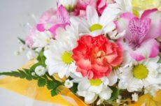 菊やカーネーションなどの花々。