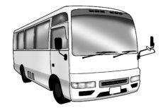 小型のマイクロバス霊柩車