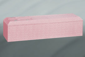 ピンク色の装飾棺