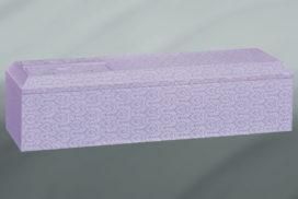 紫色の装飾棺