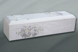 シルバー色の装飾の高級棺