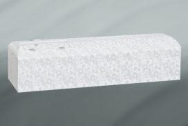 白い装飾の棺