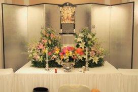 小さな生花祭壇