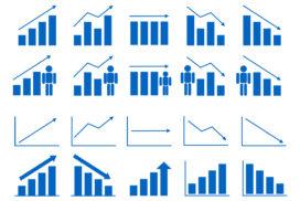 様々な動向を表すグラフ