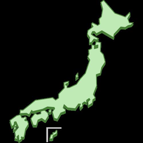 日本国の地図