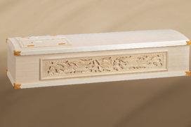 鳳凰の彫刻入りの桐製の棺