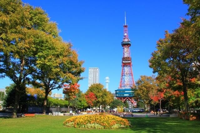 札幌市大通公園と札幌市のシンボルであるテレビ塔。