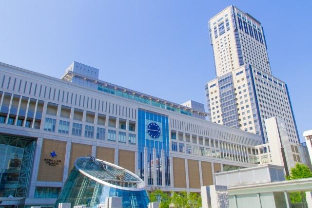 札幌駅の建物。