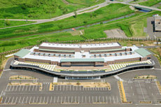 上空から撮影した札幌市山口火葬場