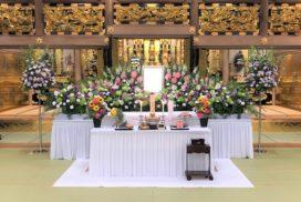 仏教寺院での生花祭壇